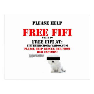 Free Fifi the Bichon Frise Postcards