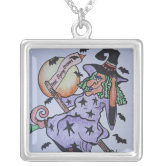 Free Flying Lessons Square Pendant Necklace