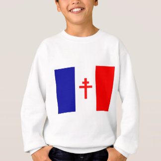 Free French Forces Flag Sweatshirt
