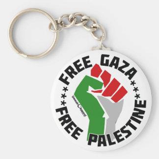 free gaza free palestine basic round button key ring