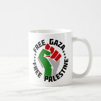 free gaza free palestine basic white mug
