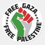 free gaza free palestine round stickers