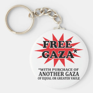 FREE GAZA - Funny remake Basic Round Button Key Ring