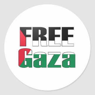 Free Gaza Round Stickers