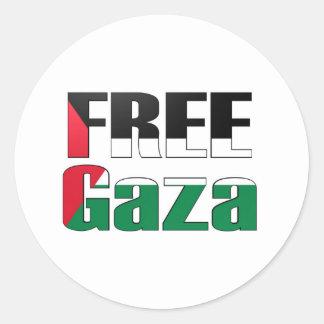 Free Gaza Round Sticker