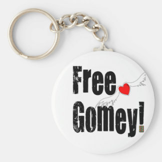 Free Gomey! Basic Round Button Key Ring