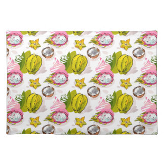 Free Hand Textured Fruit Pattern Placemat