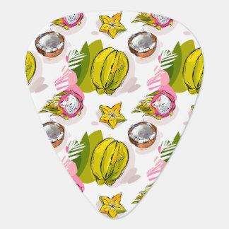 Free Hand Textured Fruit Pattern Plectrum