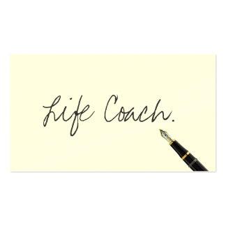 Free Handwriting Script Life Coach Business Card