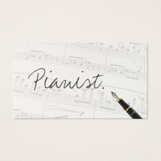 Free Handwriting Script Pianist Business Card