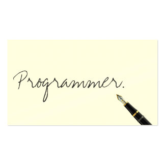 Free Handwriting Script Programmer Business Card