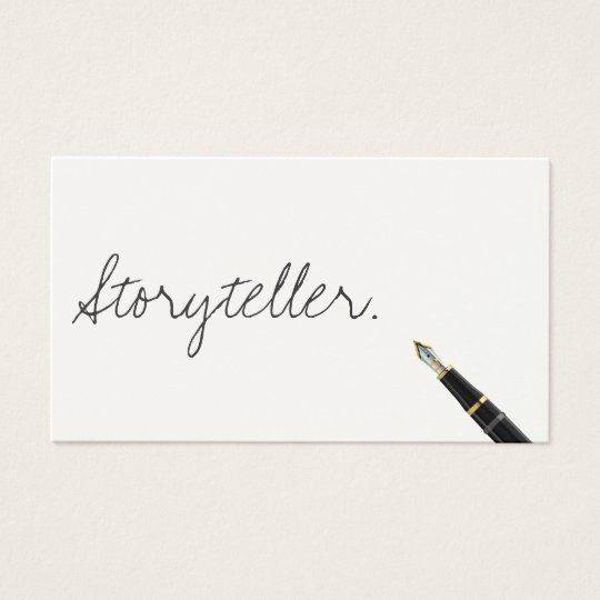 Free Handwriting Script Storyteller Business Card