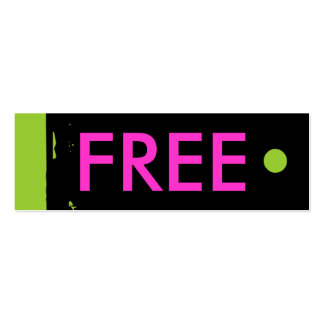 """""""FREE"""" Hang Tag Business Cards"""