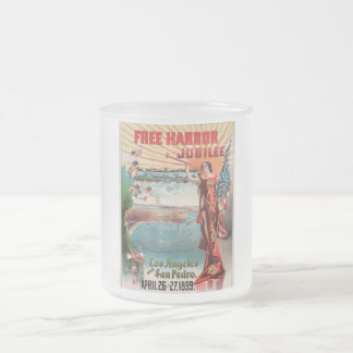Free Harbor Jubilee, Los Angeles and San Pedro. Frosted Glass Mug