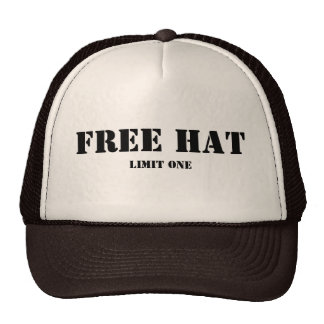 Free Hat, Limit One Cap