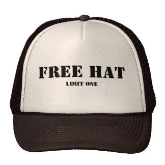 Free Hat, Limit One Cap