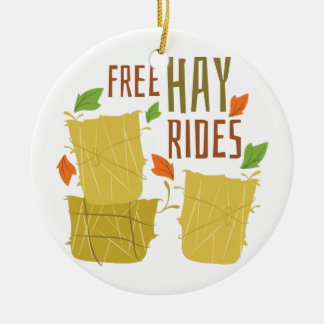 Free Hay Rides Christmas Ornament