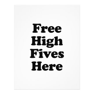 Free High Fives Here Full Color Flyer