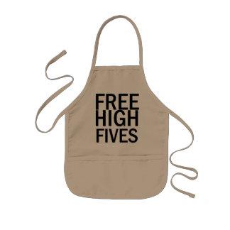 Free High Fives Kids Apron