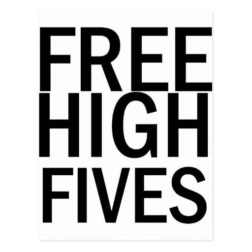 Free High Fives Post Cards