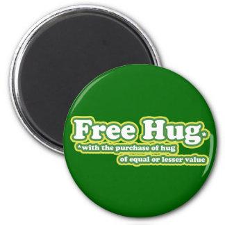 Free Hug Hugs Parody 6 Cm Round Magnet