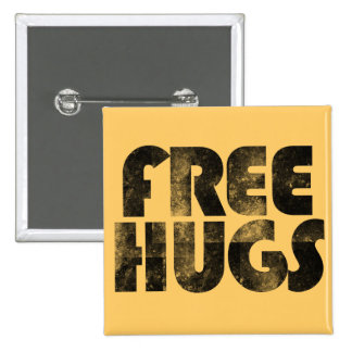 Free Hugs 15 Cm Square Badge