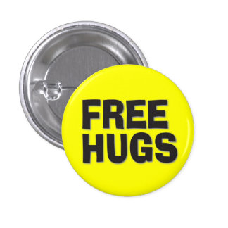 Free Hugs 3 Cm Round Badge