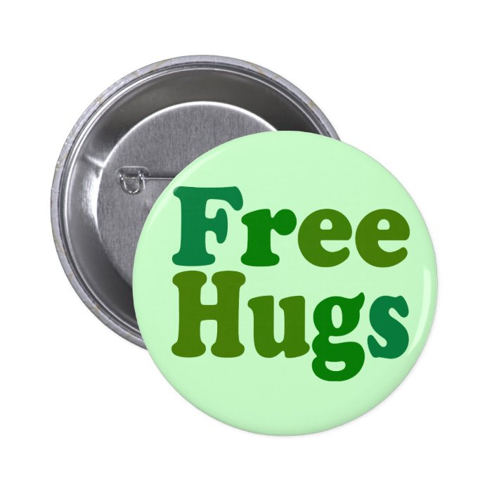 Free Hugs 6 Cm Round Badge