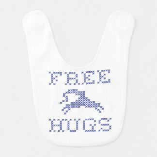 Free hugs alien bib
