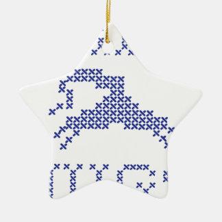 Free hugs alien christmas ornament