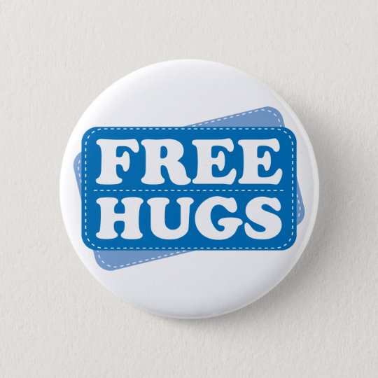 Free Hugs - Blue 6 Cm Round Badge