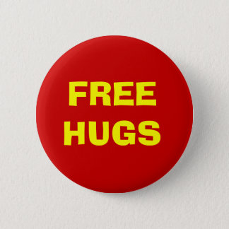 Free Hugs Button - Red