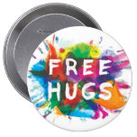 FREE HUGS! BUTTONS