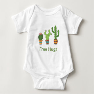 Free Hugs Cactus baby shirt