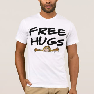 Free Hugs Cartoon Monkey T Shirt