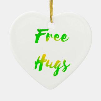 free hugs ceramic heart decoration