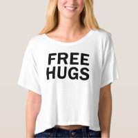 Free Hugs Crop Top - Women's Official T-shirt