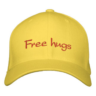 Free hugs embroidered baseball caps