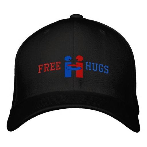 Free, Hugs Embroidered Baseball Cap