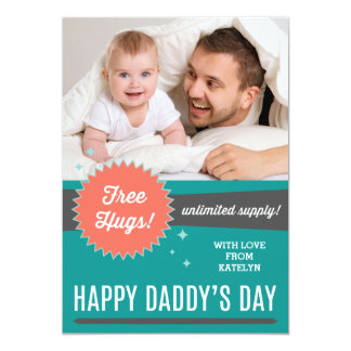 Free Hugs Father's Day Flat Card