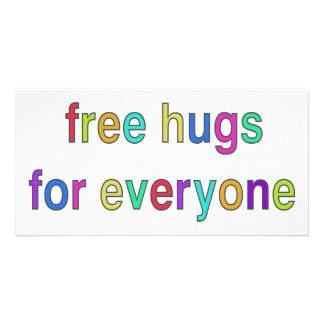 Free Hugs Funny Design Personalized Photo Card