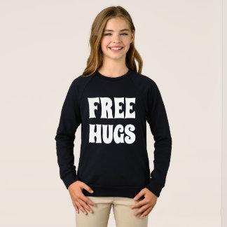 Free Hugs Girls American Apparel Raglan Sweatshirt