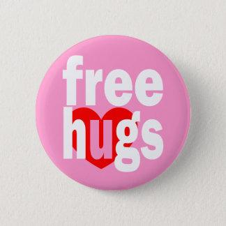 free hugs heart 6 cm round badge