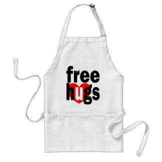 free hugs heart aprons
