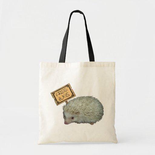 Free Hugs Hedgehog Tote Bags