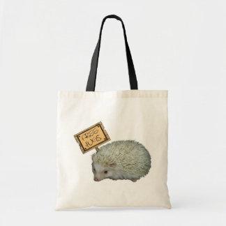 Free Hugs Hedgehog Budget Tote Bag