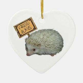 Free Hugs Hedgehog Christmas Ornament