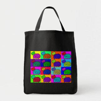 Free Hugs Hedgehog Colorful Pop Art Popart Grocery Tote Bag