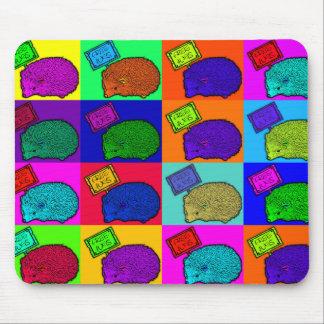 Free Hugs Hedgehog Colorful Pop Art Popart Mouse Pad