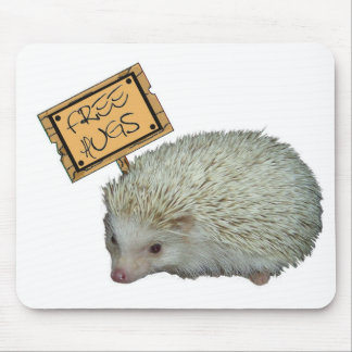 Free Hugs Hedgehog Mouse Pad